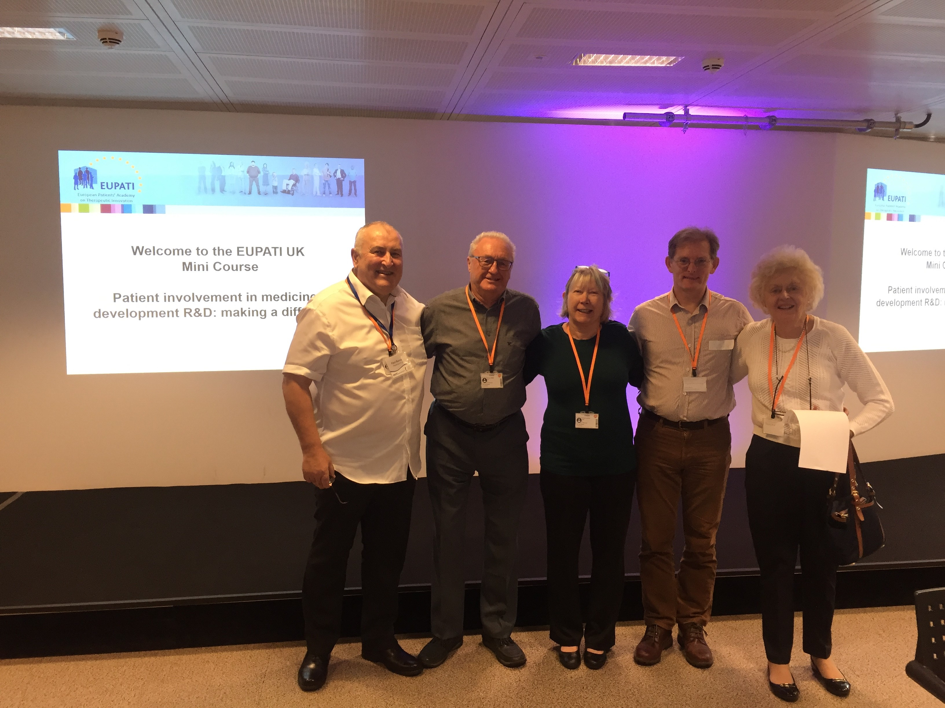 Parkinsons UK EUPATI Mini Course Volunteers
